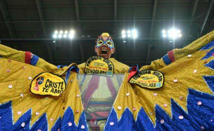 عکس/ پوشش عجیب و غریب هواداران تیم ملی کلمبیا