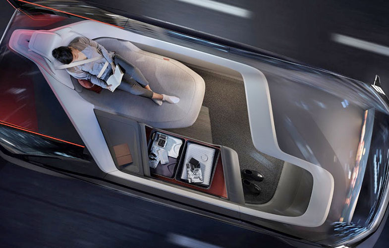 رونمایی ولوو از خودرویی با یک اتاق نشیمن، فضایی برای کار و خواب در سال ۲۰۲۱