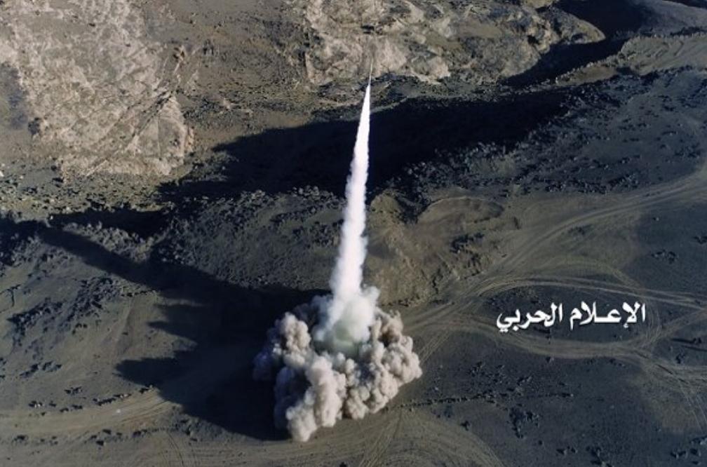 شلیک یک فروند موشک بدر۱ به مواضع نظامیان سعودی
