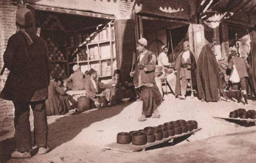 عکس/ بازار تهران در دوره قاجاریه