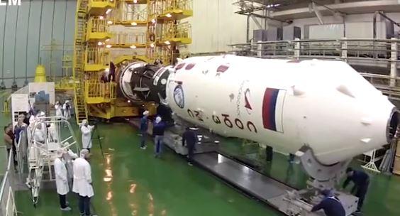 ویدئویی از مراحل آماده سازی فضاپیمای سایوز