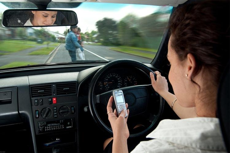 گوشی هوشمند تصادف