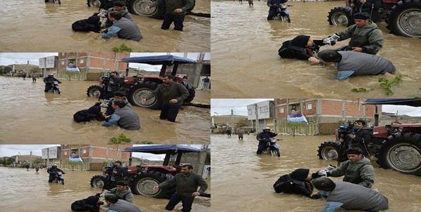 ماجرای عکسبرداری از رئیس کمیته امداد میان سیلاب گلستان چه بود؟