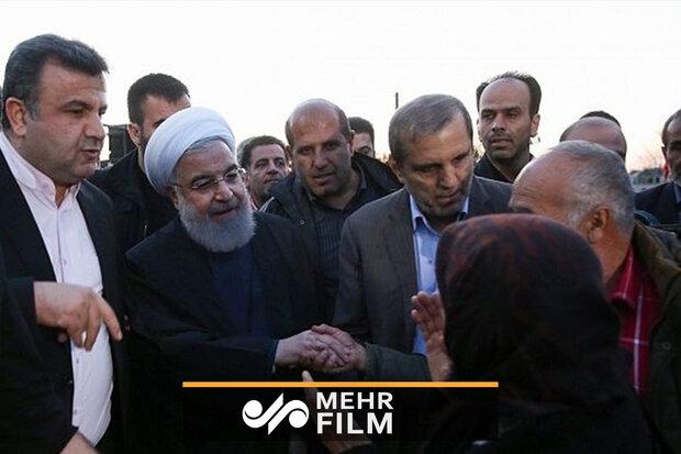 فریادهای بانوی ترکمن مقابل رئیس جمهور