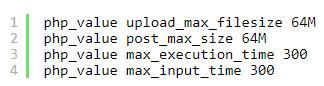 افزایش اندازه حداکثر آپلود فایل در وردپرس
