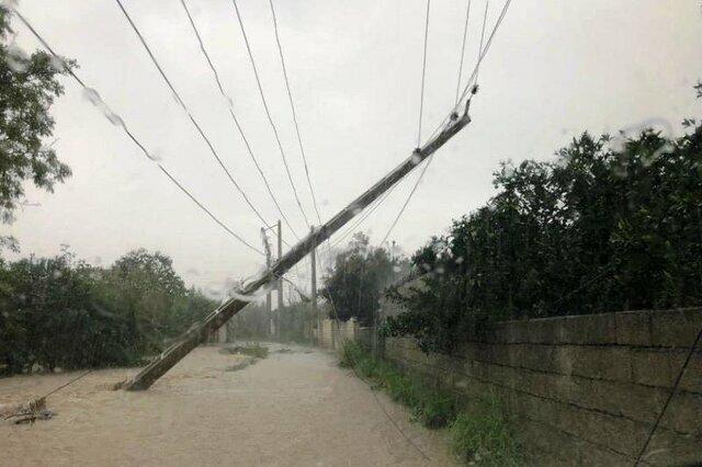 خسارت سیل به تاسیسات برق