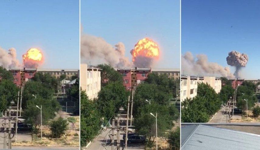 انفجار در انبار مهمات ارتش قزاقستان/دستکم ۴۰ هزار نفر تخلیه شدند