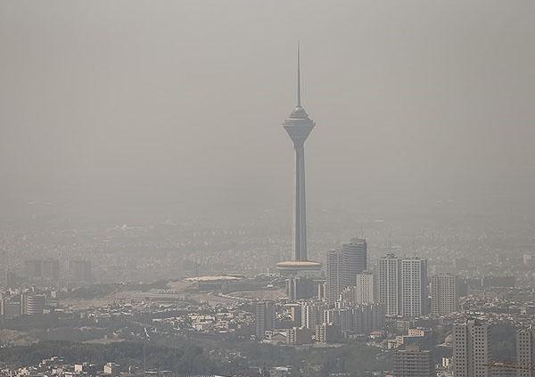 هوای تهران در شرایط ناسالم برای همه افراد قرار دارد