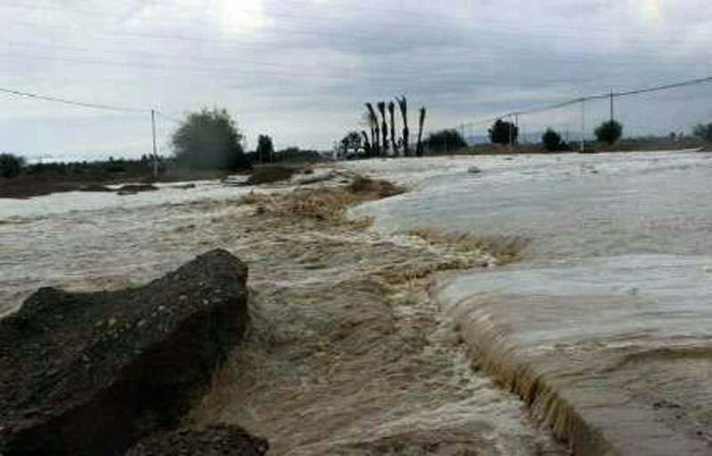 طغیان رودخانه در محورهای مواصلاتی مهرستان، ایرانشهر وسرباز