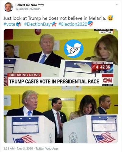 تصویر خبرساز از لحظه رایدهیِ ترامپ و ملانیا/ ترامپ نگران رای همسرش/ عکس