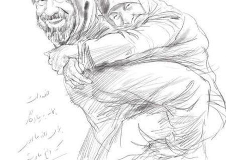 طرح بزرگمهر حسین پور برای روز مادر و سوگ علی انصاریان