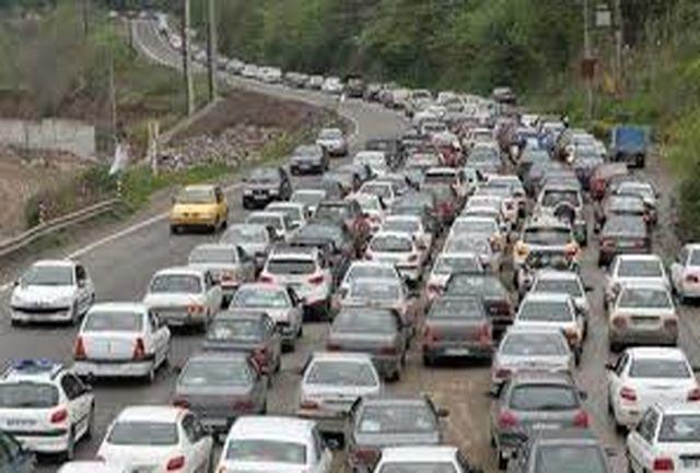 ترافیک سنگین در محور چالوس و هراز