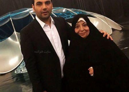 احسان علیخانی و مادرش / عکس