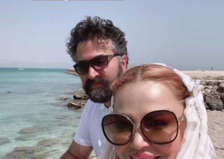 عکس بهاره رهنما و همسرش در جزیره کیش