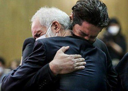 گریه تلخ همسر و پدر آزاده نامداری
