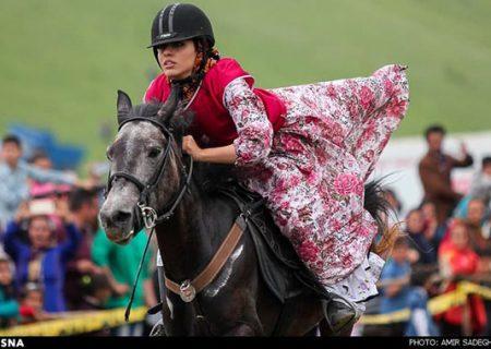زنان در جشنواره اسب دوانی ارسباران