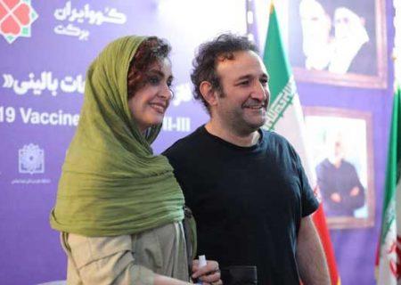 بازیگر «پایتخت» و همسرش واکسن ایرانی زدند