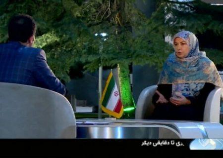 سپیده شبستری همسر همتى در تلویزیون/عکس