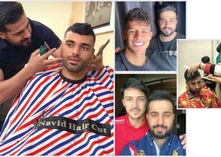 ناگفتههای آرایشگر اختصاصی فوتبالیستها / مدلموی خاص رضاییان را من زدم/ استقلالیها روی مدل مو حساستر هستند + تصاویر