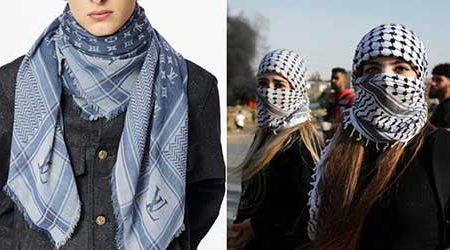 فروش روسری شبیه به چفیه، توسط لویی ویتون/ عکس
