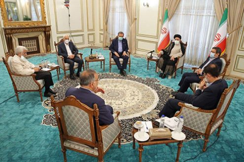 جلسه رئیسجمهور منتخب با ۶ نامزد انتخابات
