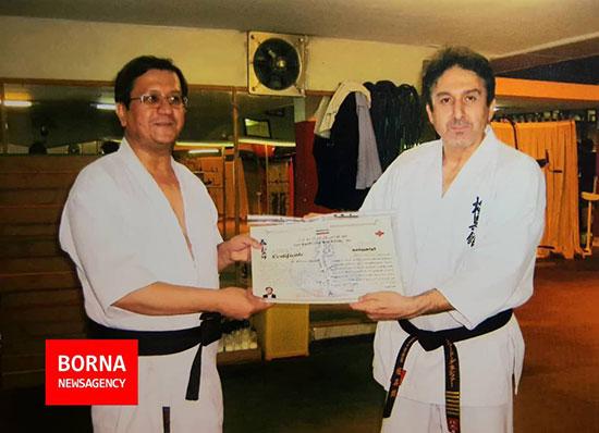همتی نامزد انتخابات در لباس کاراته