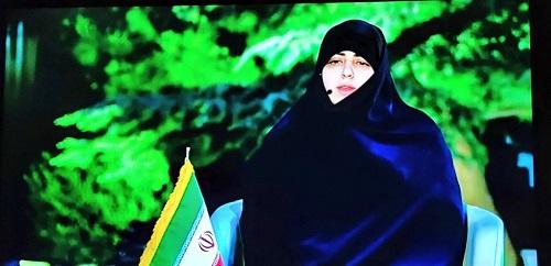 حضور ریحانه سادات رئیسی دختر ابراهیم رئیسی در صداوسیما/ پدرم بین زن و مرد دیوار نمی کشد پل می سازد/ فیلم