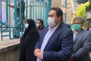 دختر و داماد روحانی در صف رای حسینیه ارشاد/ عکس