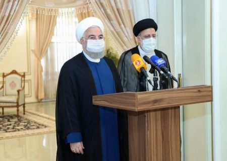 روحانی به دیدار رئیسی رفت/ عکس