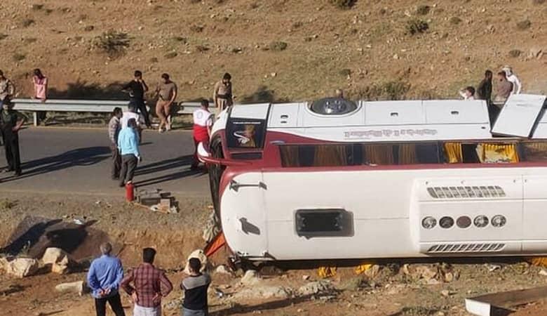 فوت مهشاد کریمی و ریحانه یاسینى در حادثه واژگونى اتوبوس خبرنگاران/عکس