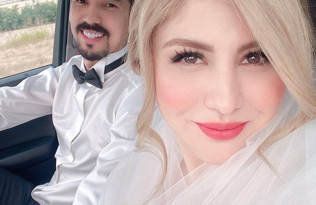 فرهاد قائمی به همراه همسرش/ عکس