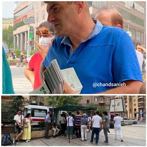 صف ایرانیها در ارمنستان برای دریافت واکسن کرونا
