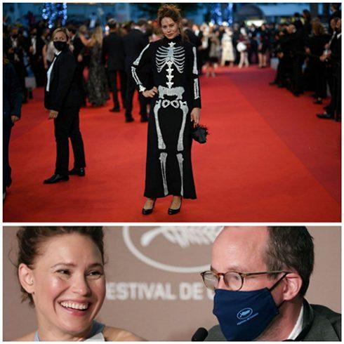 لباس عجیب بازیگر زن فنلاندی در جشنواره کن/ عکس