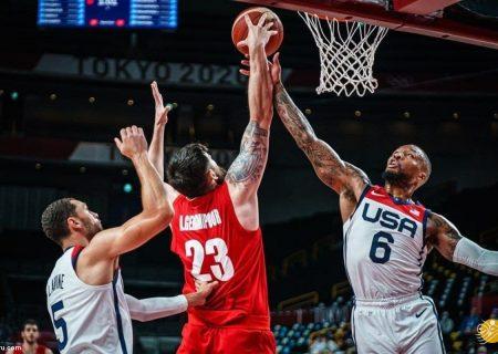 شکست سنگین بسکتبال ایران مقابل آمریکا