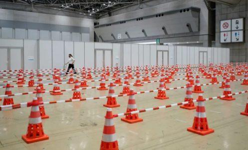 مرکز تست کرونا در بازی های المپیک ۲۰۲۰ ژاپن/ عکس