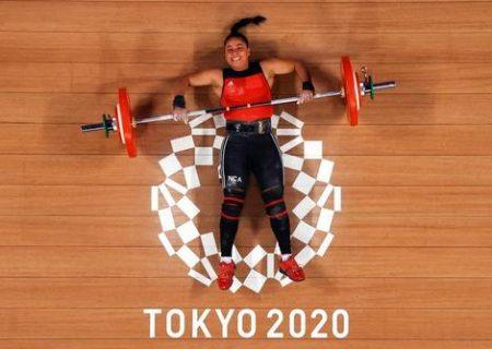 ناکامی از بلند کردن وزنه در المپیک ۲۰۲۰ توکیو/ عکس