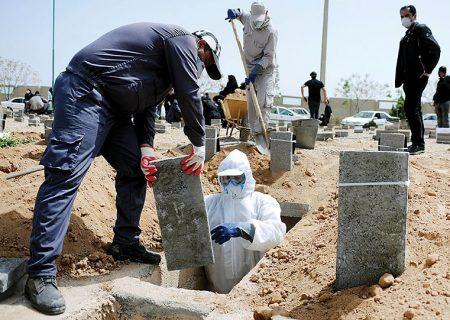 دفن ۴۰ درصد متوفیان کرونایی کشور در بهشت زهرای تهران