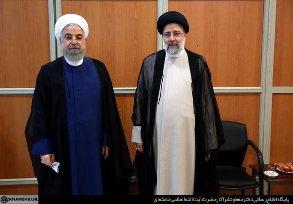 عکس یادگاری ابراهیم رئیسی و حسن روحانی
