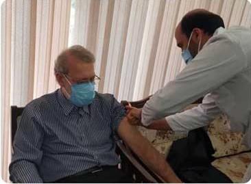 علی لاریجانی واکسن برکت زد/ عکس