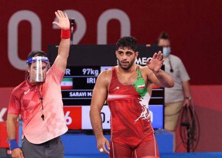 دومین مدال برای ایران در المپیک توکیو/ برنز المپیک بر گردن ساروی نشست