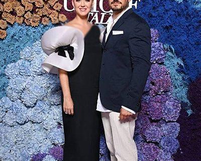 کیتی پری در کنار نامزدش /عکس