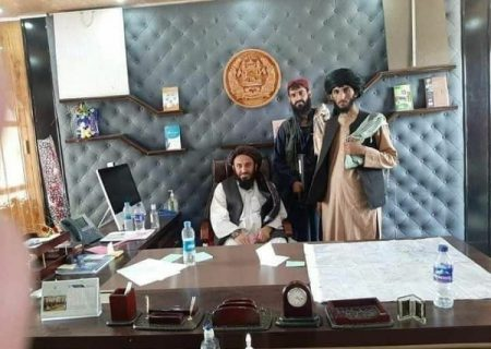 دفتر اشرف غنی در تسخیر نیروهای طالبان/ عکس