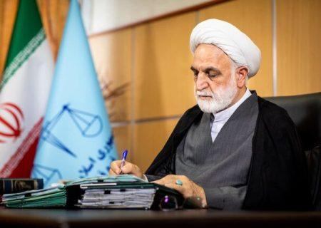 واکنش محسنی اژه ای رئیس قوه قضائیه به تصاویر منتشر شده از داخل زندان اوین