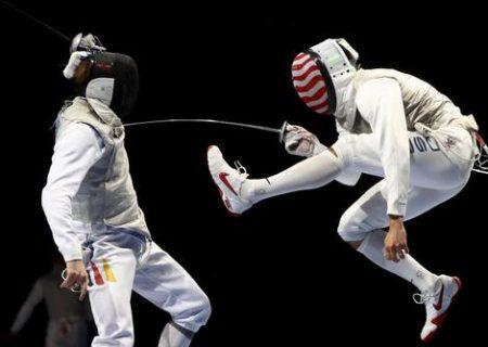 تصویری دیدنی از شمشیر بازی المپیک توکیو