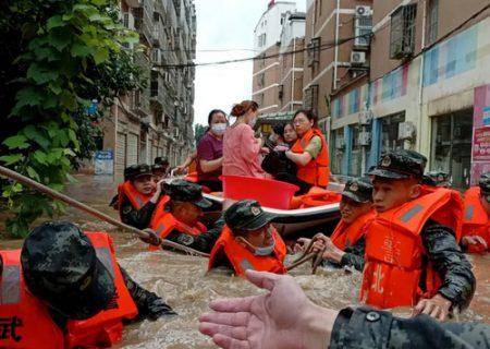 امدادرسانی در سیل چین/ عکس