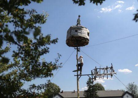 ساخت برجک لانه پرنده در صربستان/ عکس