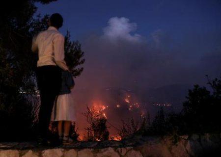 آتش سوزی مناطق جنگلی اطراف شهر قدس/ عکس