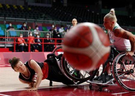 بسکتبال با ویلچر زنان ژاپن و استرالیا /عکس