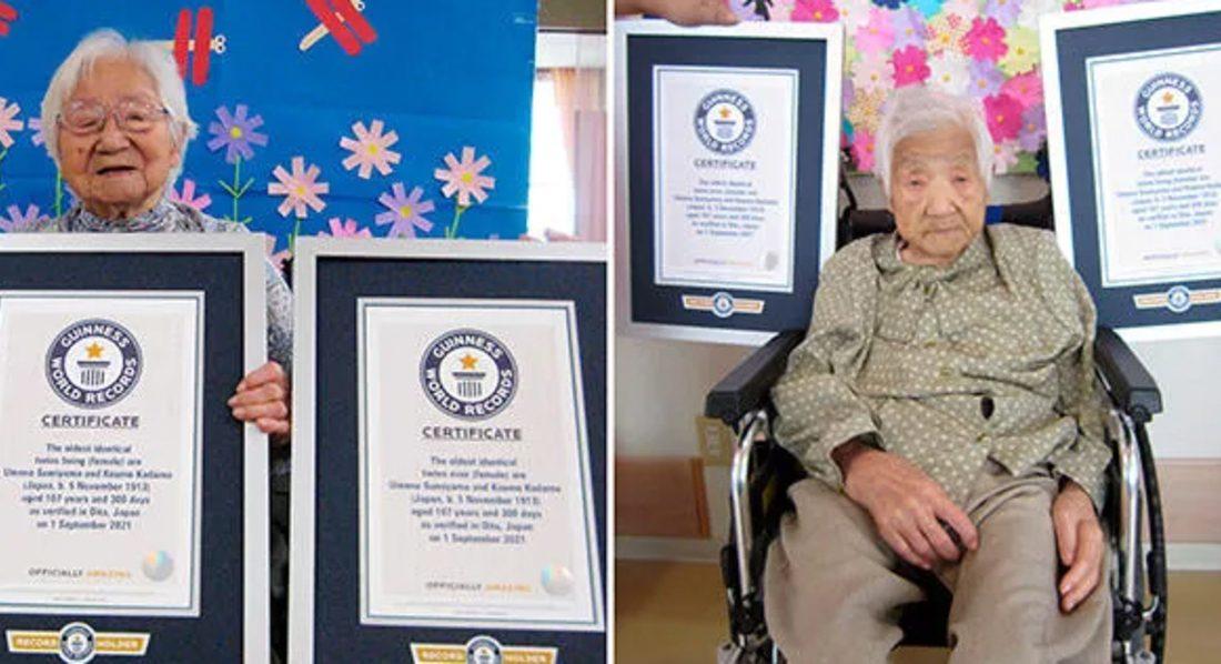 پیرترین دوقلوهای جهان /عکس