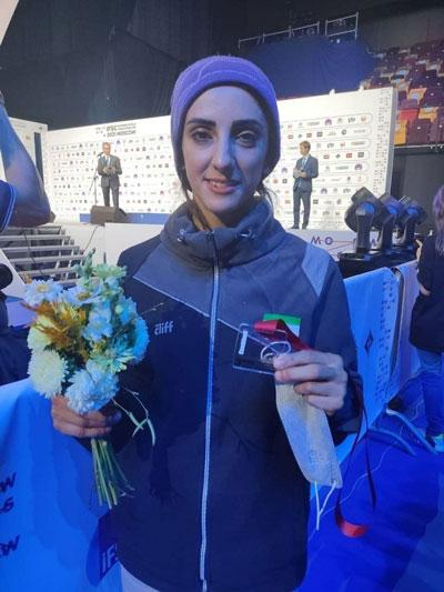 شاهکار دختر سنگنورد ایران در مسابقات جهانی /عکس